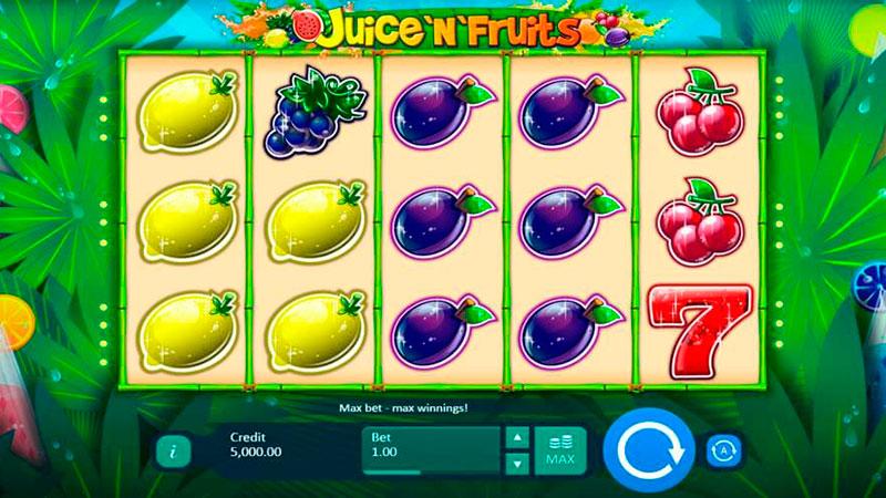 игровой автомат онлайн Сок и Фрукты